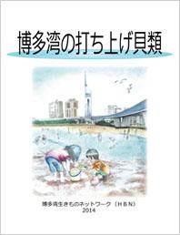「博多湾の打ち上げ貝類2014」の表紙
