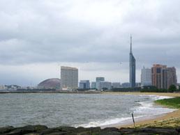 博多湾の景観