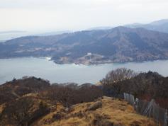 海の先に見えるのは、牡鹿半島の先端です。