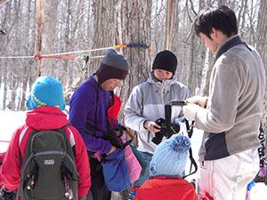 キャンプ部:家族も参加します。